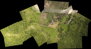 A stitched aerial picture. Photo: conservationdrone.org