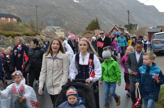 The Vikings never left the islands; their descendants march in the May 17 parade in the village of Sorvage, to commemorate Norway's independence. But people have also welcomed new arrivals from Asia and the Mideast, whose faces are increasingly seen here.