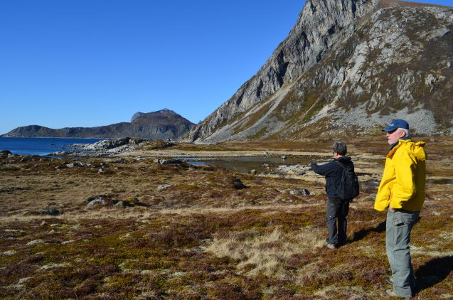 The islands' unforgiving weather and landscape have always forced people to make a living from both land and sea. Tromso University Museum archaeologist Stephen Wickler (left) and palynologist Scott Walker survey a seascape occupied by predecessors of the Vikings some 6,000 years ago.