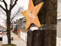 A New York Says Thank You Foundation star of hope turned upside down in Broad Channel, Queens