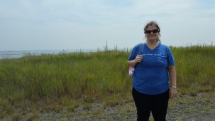 Emily at Jamaica Bay during a recent ESP Ecology Field Trip