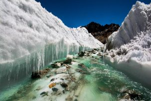 Glacial melt in the Himalayas