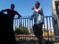 Aviv Tatarsky talking overlooking Shuafat