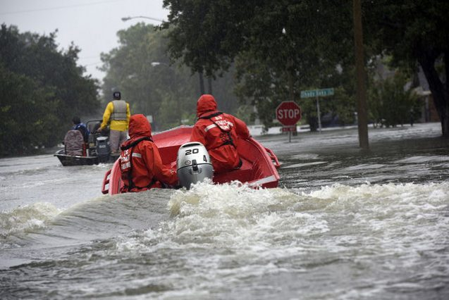 flooded streets of friendswood, texas