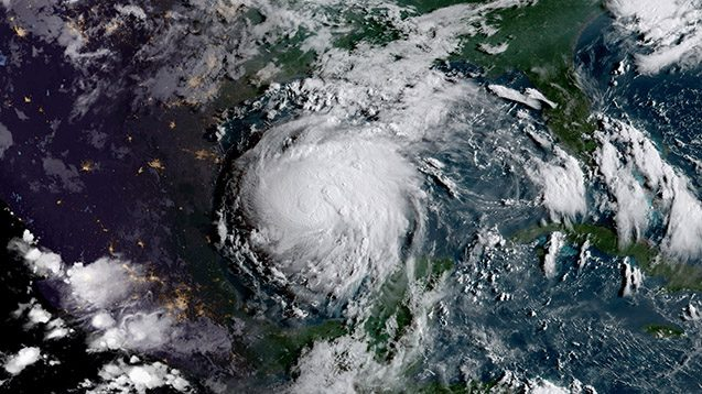 Hurricane Harvey, as seen from space