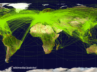 map of airline travel