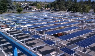 Solar array at De Anza College in San Francisco Photo: Darin Dingler