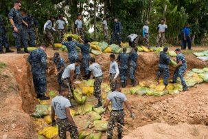 The Navy helping with flood relief in Sri Lanka. Photo: US Pacific Command