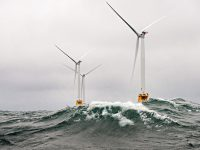 wind turbines in water