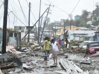 Downed power lines in Dominica from Hurricane Maria. Photo by Roosevelt Skerrit via Wikimedia Commons