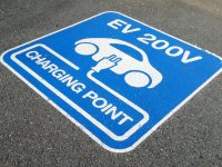 Sign Charging Parking Point Electric Ev Car