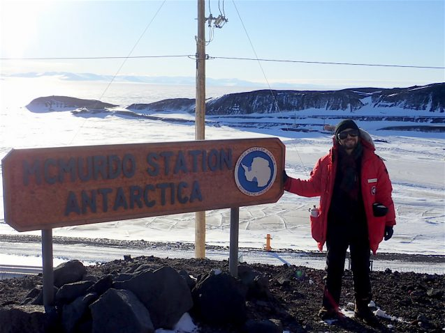 An official 'proof'! My photo by the McMurdo sign is proof that we have really made it here after a lot of anticipation!!