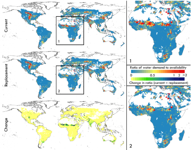 map of water scarcity