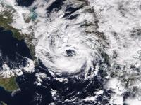 satellite image of medicane numa