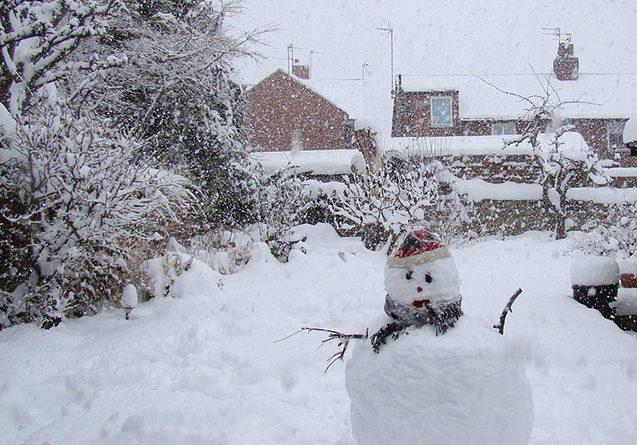 snow snowman winter