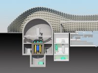 A nuclear power plant concept based on a new reactor design