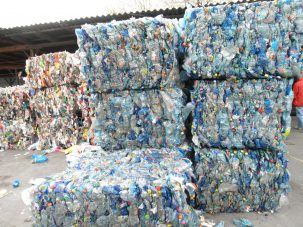 soda and water bottles for recycling