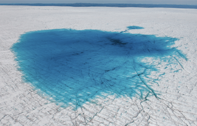 summer meltwater in Greenland