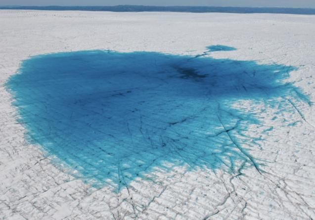 summer meltwater in Greenland