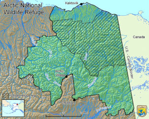 map of arctic national wildlife refuge