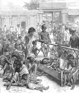 great famine causes people in india to starve