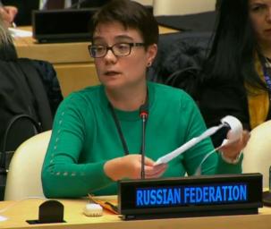 Dilyara Ravilova-Borovik at UN Security Council