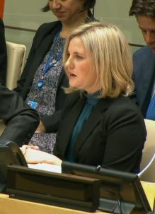 Caitlin Werrell at UN security council