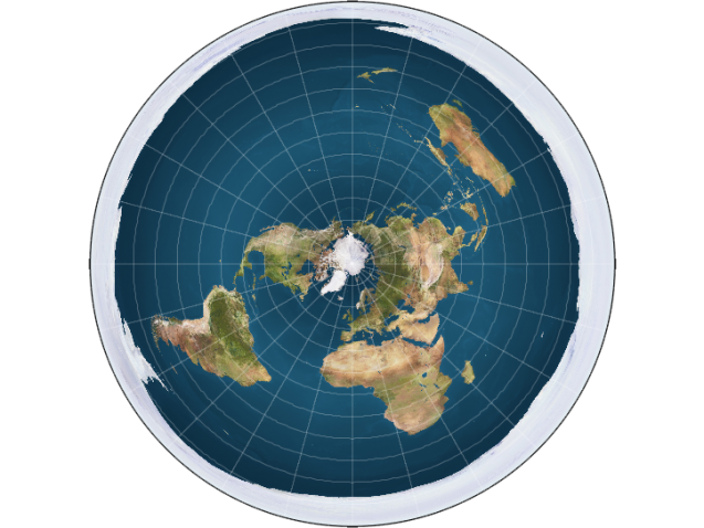 map of flat earth