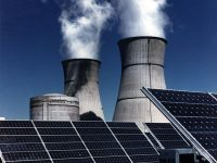 solar panels nuclear power plant sustainability science