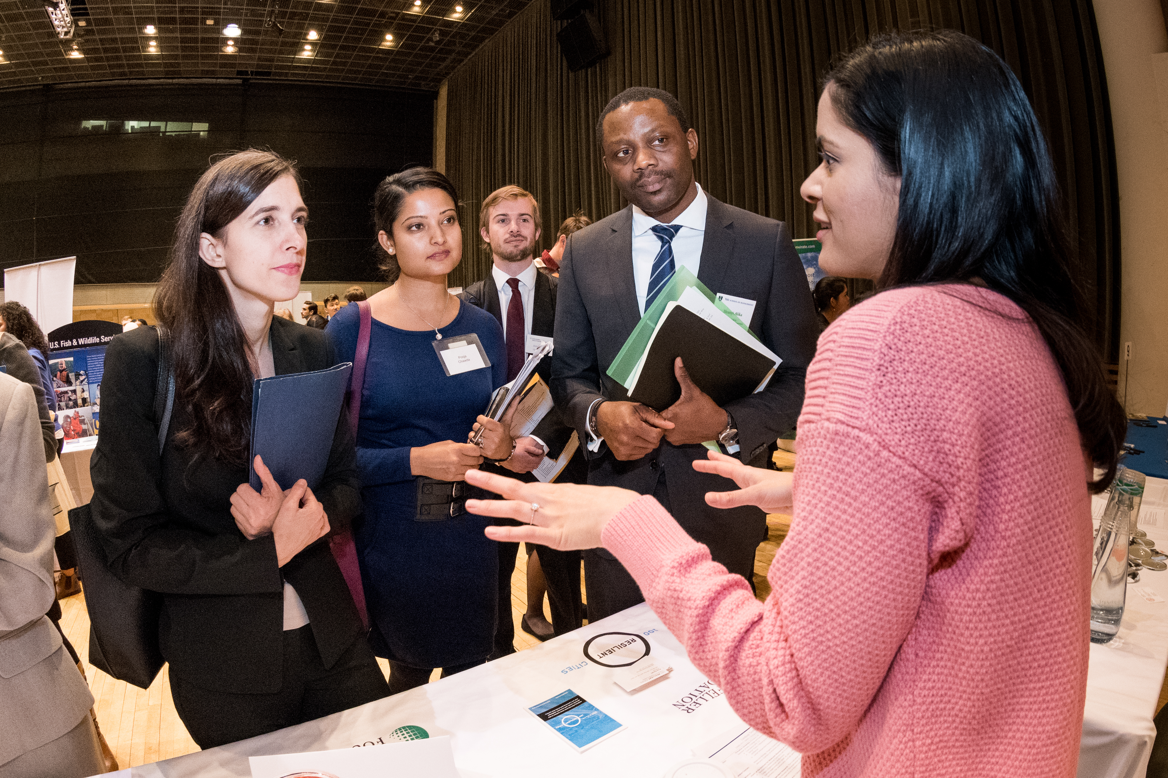 students network at career fair