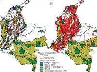Map of Colombia's mining operations