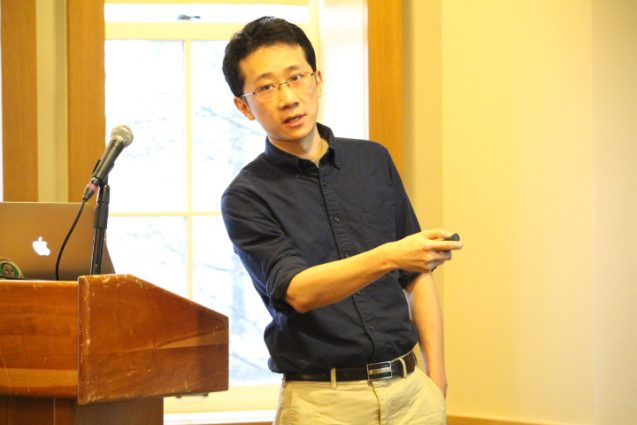 Ding Ma at the Postdoctoral Symposium