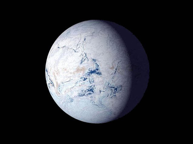 rendering of snowball earth