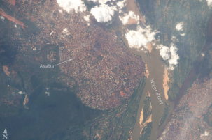 city of asaba along niger river