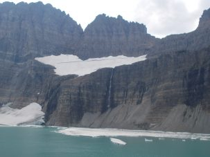 Salamander Glacier and lake at Glacier National Park