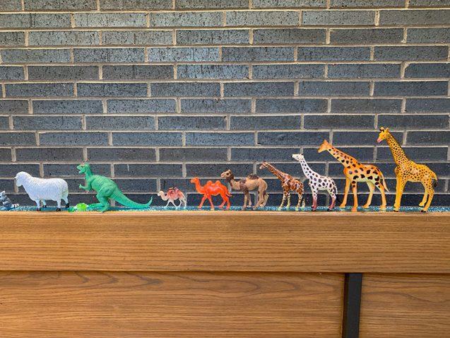 plastic figures on display