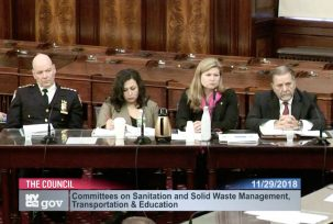 NYC department chiefs appear before the City Council at an oversight hearing on the city's response to the November 15, 2018 snowstorm.