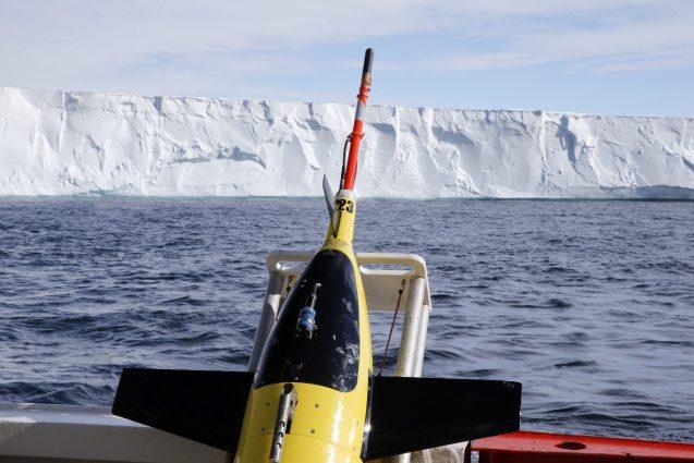 A Team of Autonomous Ocean Robots Deployed in January 2018 Has