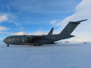 aircraft on ice