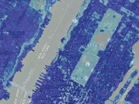 Remotely-sensed image of a section of Central Park, New York City