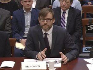 radley horton speaks at hearing