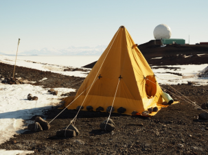 tent set up in antarctica