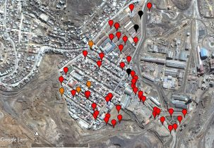 map of lead samples in cerro de pasco peru