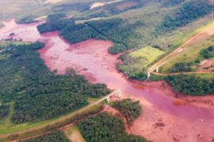 Flooding and aftermath of the Brumadinho dam collapse