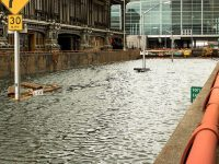 flooding in nyc street from hurricane sandy