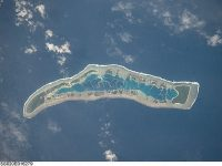 Millennium Island in the Republic of Kiribati as seen from space