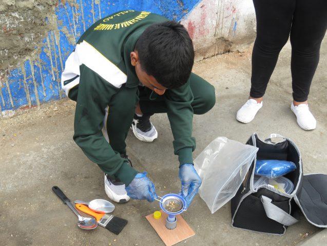 student sampling for lead in peru