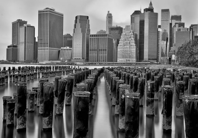 new york city over water