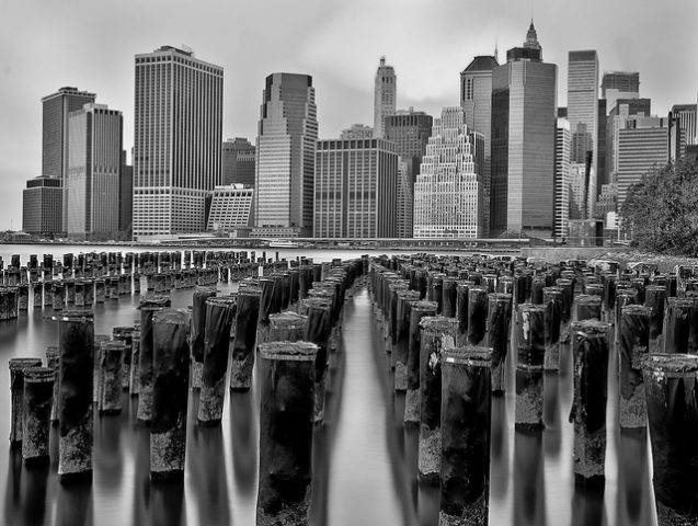 new york city over water