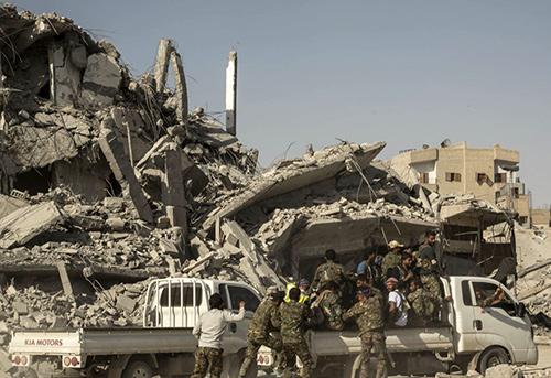 Devastation in Raqqa, Syria